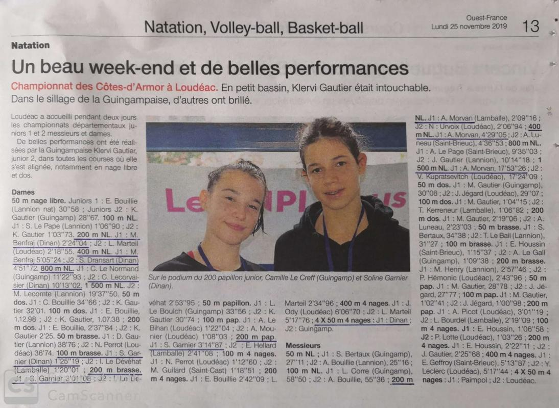 Ouest france 25 11 19