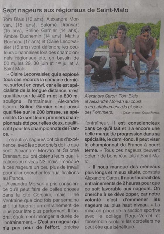 Ouest france 26 6 19